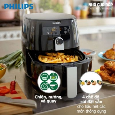 Nồi chiên không dầu Philips HD9643 chế độ nấu đa dạng