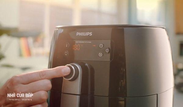 Nồi chiên không dầu Philips HD9745 có màn hình kỹ thuật số