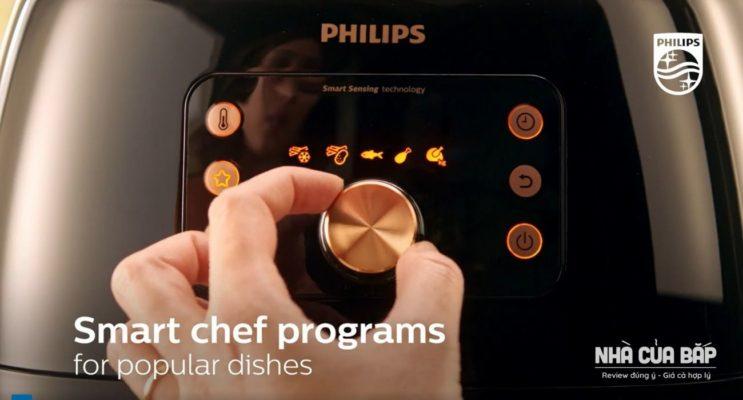 Nồi chiên không dầu Philips HD9860 Tiện ích